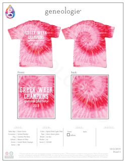 Gamma Phi Beta Greek Week Champs $16.00