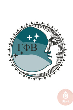 Gamma Phi Beta Crescent Moon Face