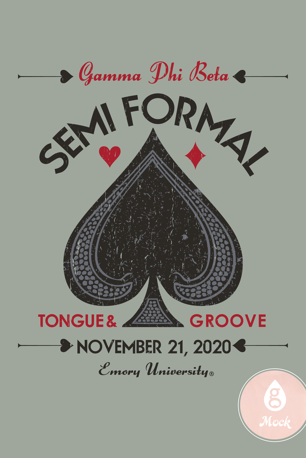 Gamma Phi Beta Semi Formal Spade