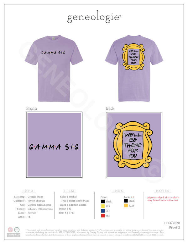 Gamma Sigma Sigma Recruitment $23.75