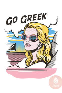 Go Greek Pop Art Girl