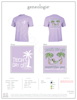 Tech's Day Off - Lavender $17.00