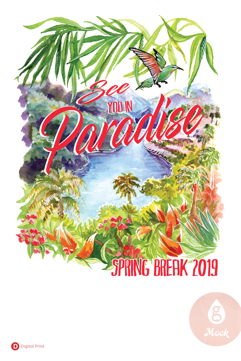 Spring Break See You in Paradise (digital)