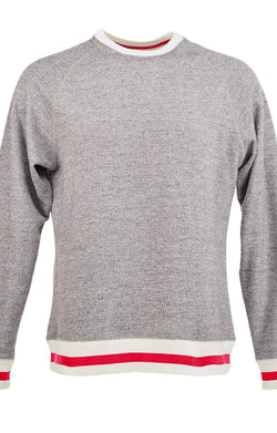 J. America 8702 Peppered Fleece Crewneck Sweatshirt