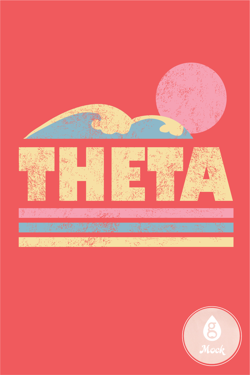 Kappa Alpha Theta Spring Break Theta Wave Stripes