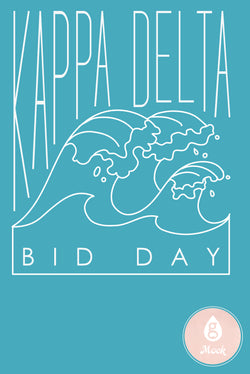 Kappa Delta Ocean Waves Bid Day