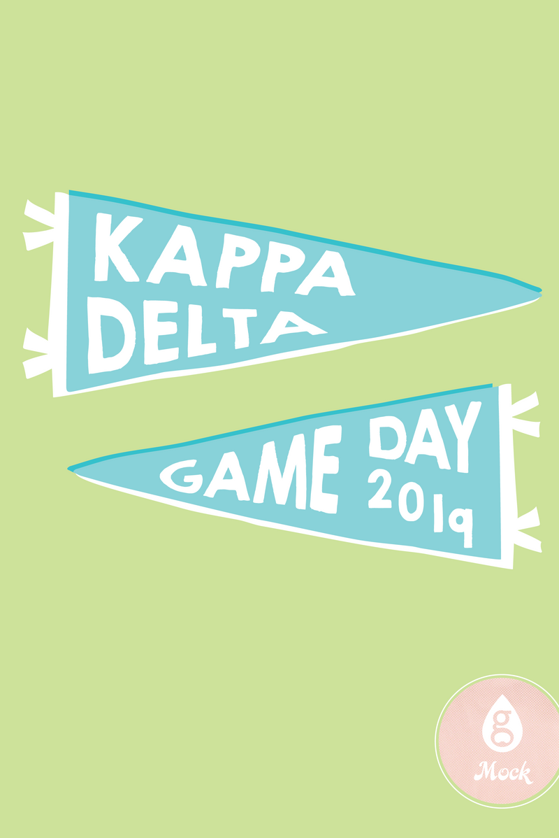 Kappa Delta Game Day Pennants