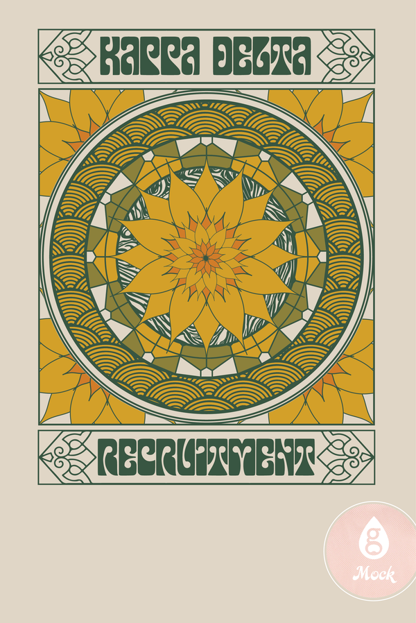 Kappa Delta Psychedelic Sunflower