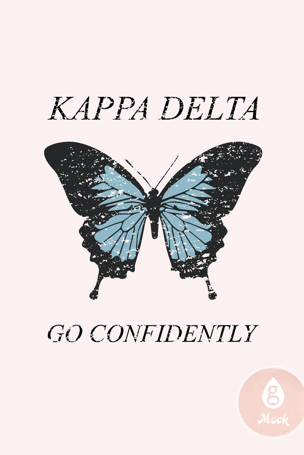 Kappa Delta Go Confidently Butterfly