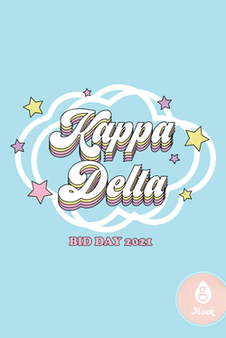 Kappa Delta Rainbow Retro Cloud