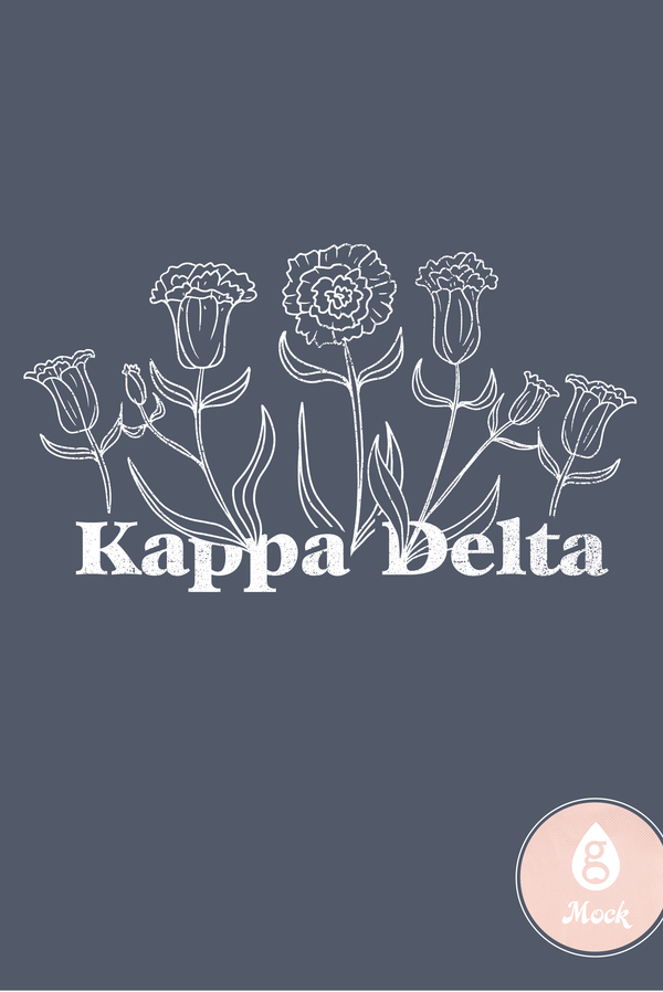 Kappa Delta Flowers Sketch
