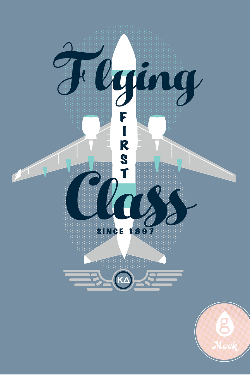 Kappa Delta Flying First Class