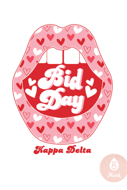Kappa Delta Bid Day Heart Lips