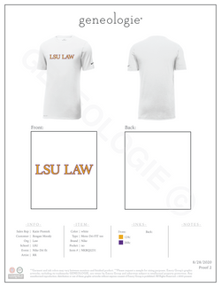 LSU Law Men's Nike Dri Fit $30.00