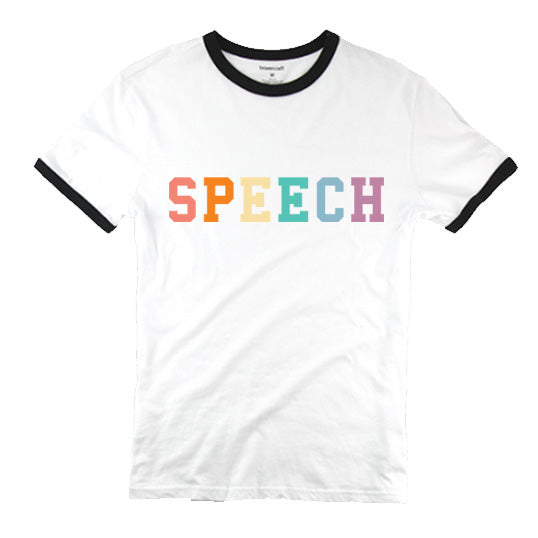 MTS Speech Ringer Tee $22.00