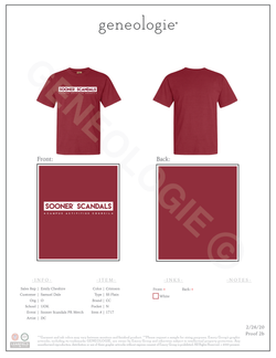 Sooner Scandals PR Merch $13.00