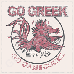 Go Greek Distressed (Mascot)