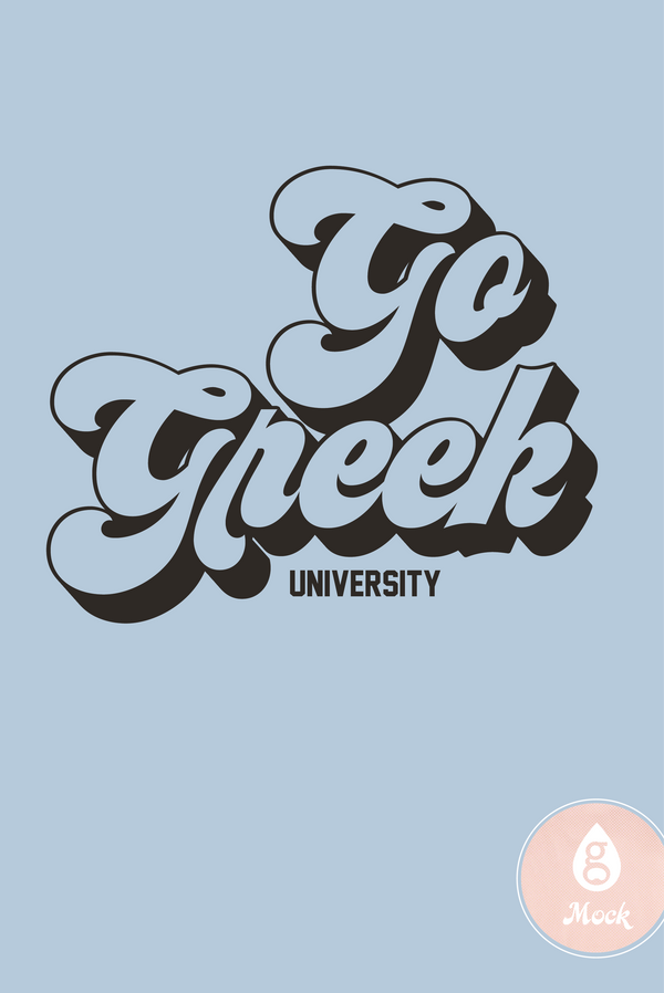 Go Greek Retro Type
