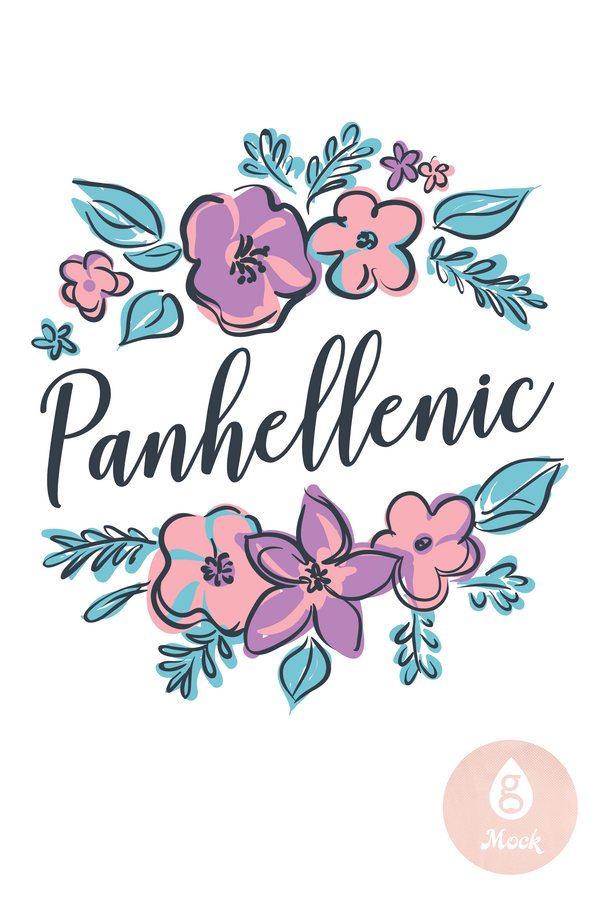 Panhellenic Recruitment Sketchy Floral