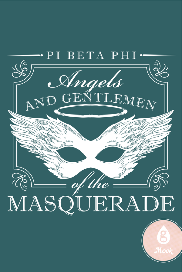 Pi Beta Phi Masquerade Framed Mask