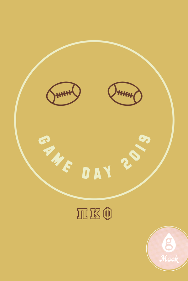 Pi Kappa Phi Game Day Smiley