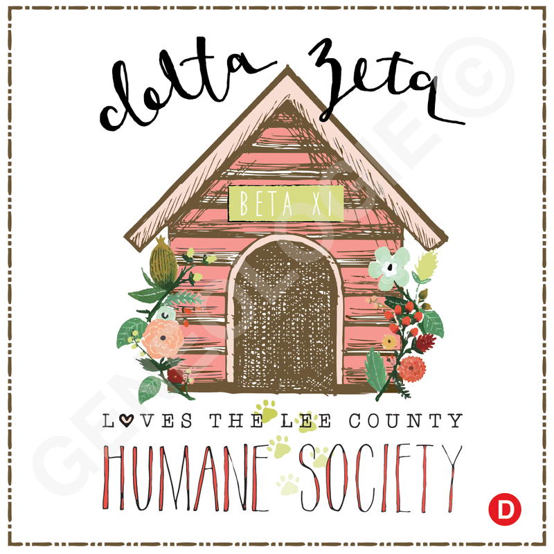 Delta Zeta Doghouse Ph225 Humane Society