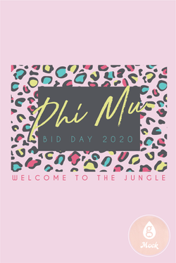 Phi Mu Colorful Leopard Print