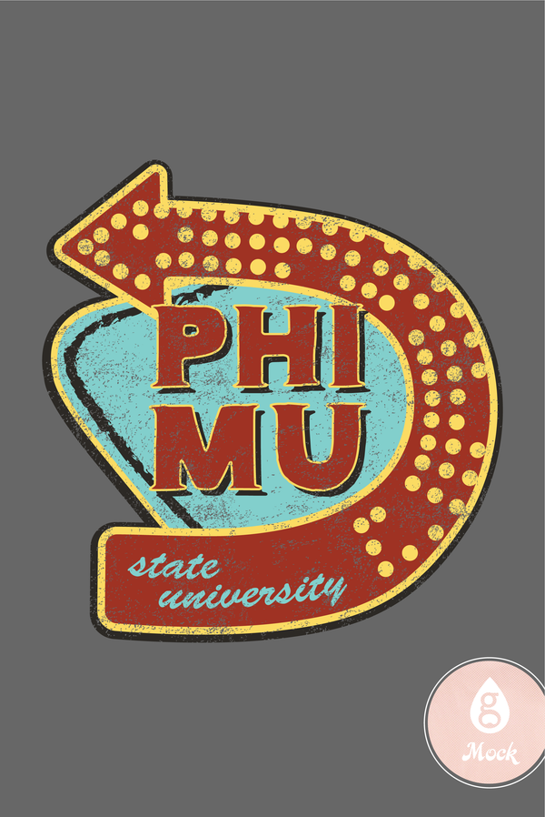 Phi Mu Vintage Restaurant Sign