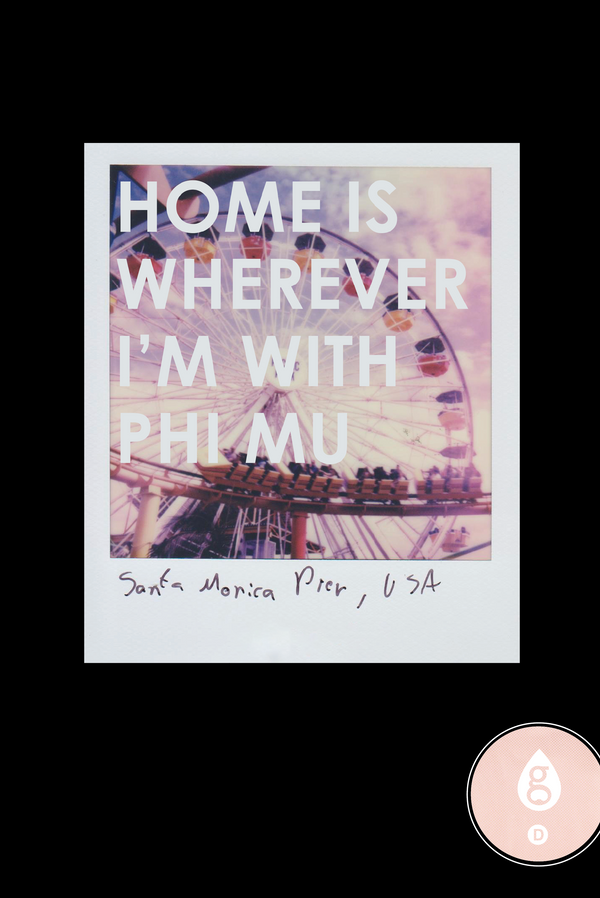 Phi Mu Recruitment Home Polaroid
