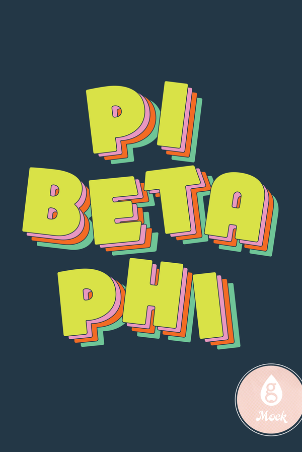 Pi Beta Phi Colorblock