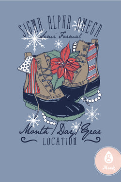 Sigma Alpha Omega Holiday Duck Boots