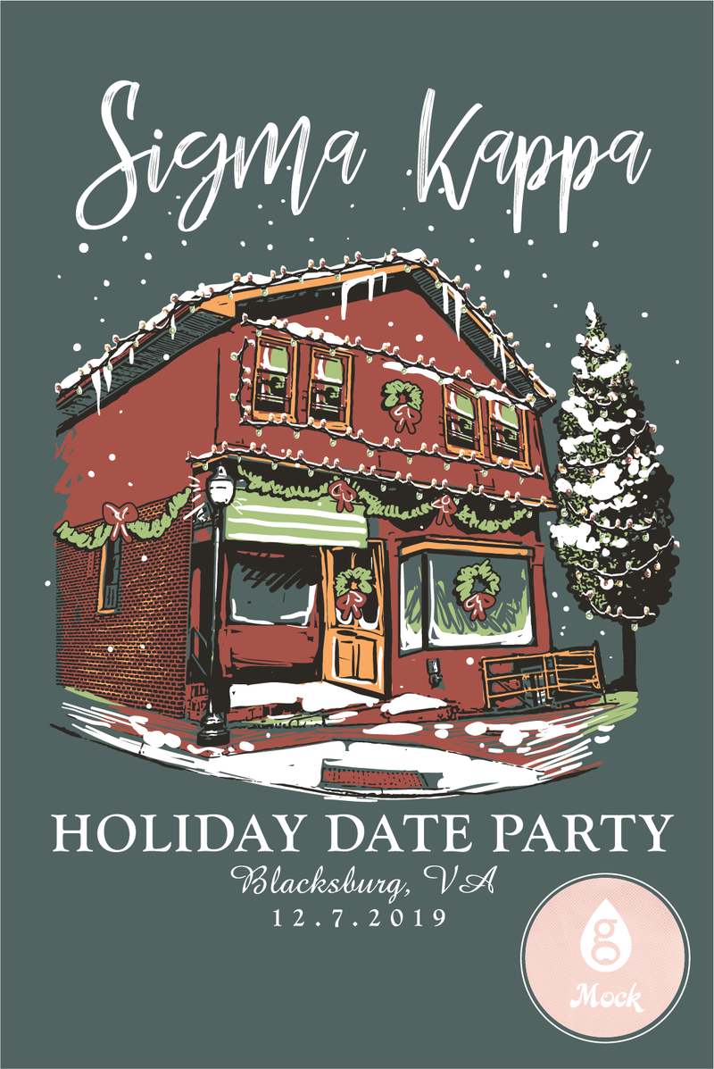 Sigma Kappa Holiday Date Winter House Decor