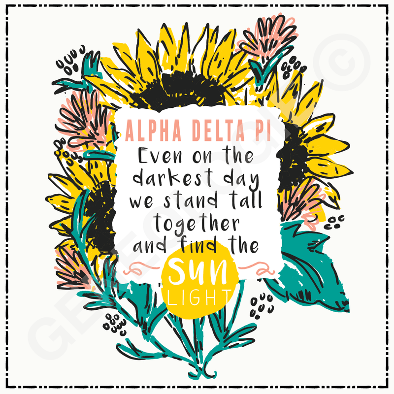 Alpha Delta Pi Side By Side Or Miles Apart SL76