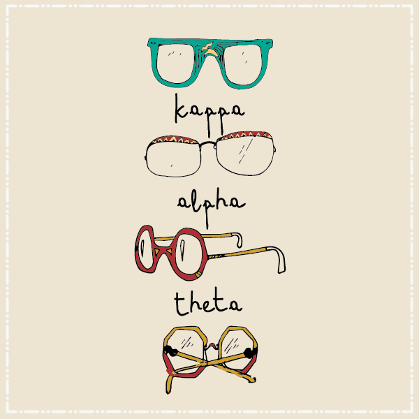 Kappa Alpha Theta Glasses