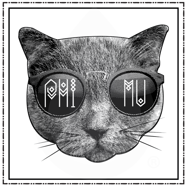Phi Mu Cat with Glasses