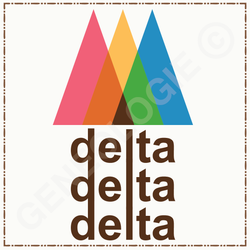 Delta Delta Delta Color Mix Triangles