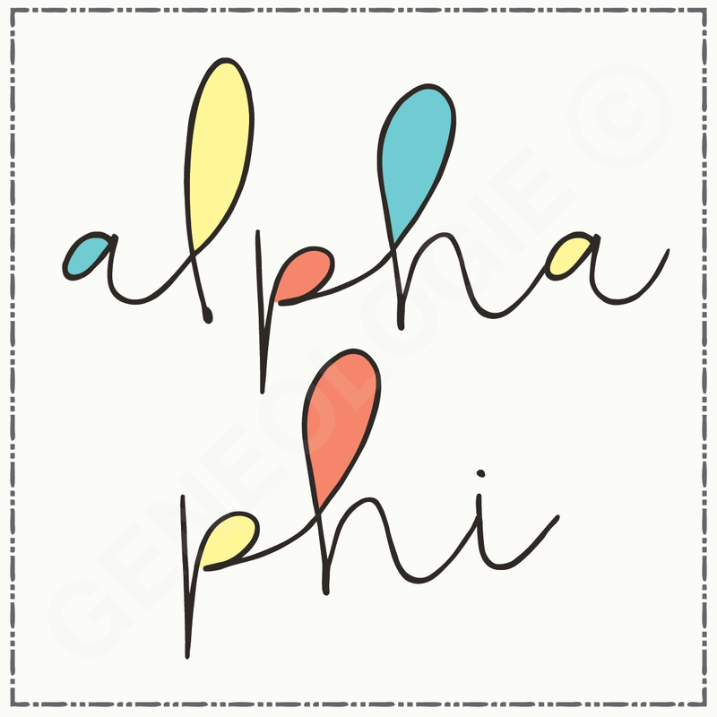 Alpha Phi Color Block SN321