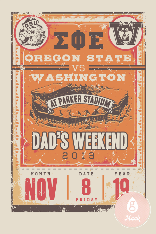 Sigma Phi Epsilon Dad's Weekend Retro Stadium Ticket