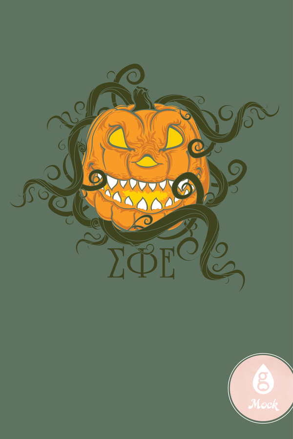 Sigma Phi Epsilon Jack O Lantern on the Vine