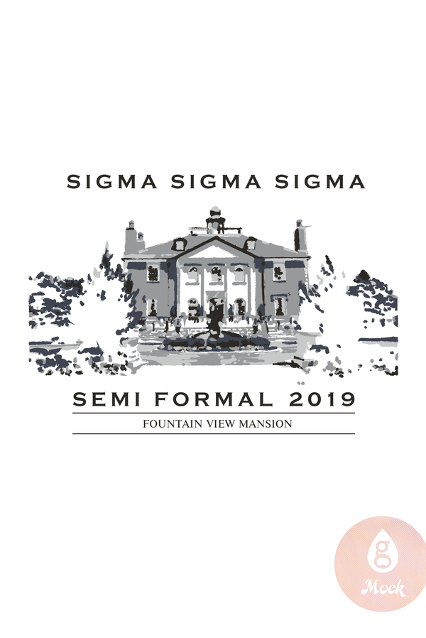 Sigma Sigma Sigma SemiFormal MansionSketch