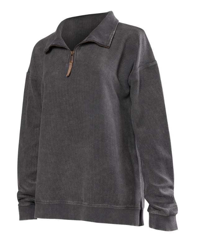 Chicka-d Corded Quarter Zip Pullover