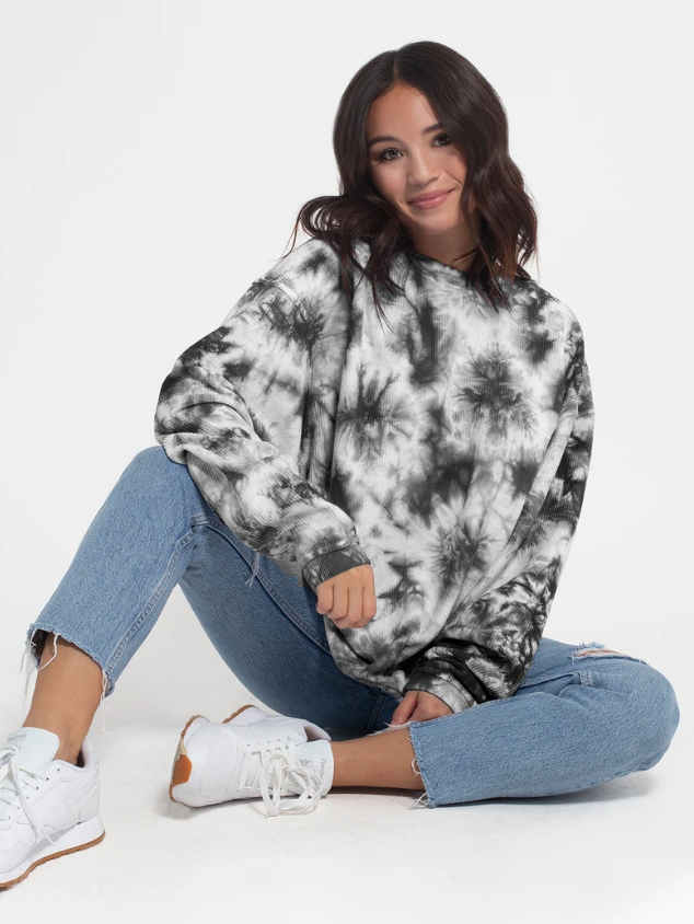 Chicka-d Tie-Dye Corded Crew