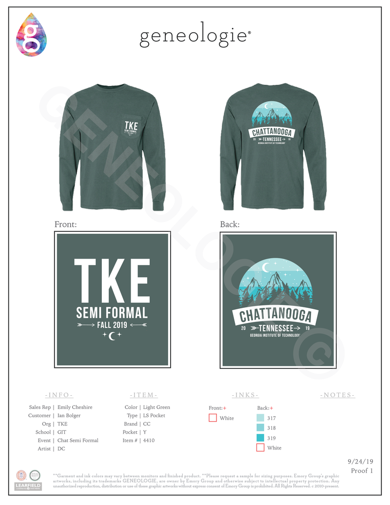 Tau Kappa Epsilon Semi Formal Long Sleeve $21.55