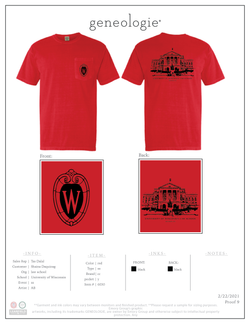 Wisconsin Law Shirt - Red $24.00