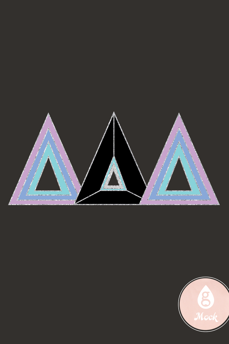Delta Delta Delta Retro Triangles