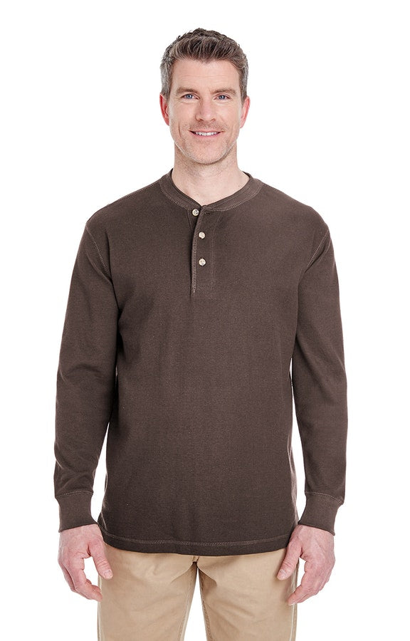 UltraClub 8456 Adult Mini Thermal Henley