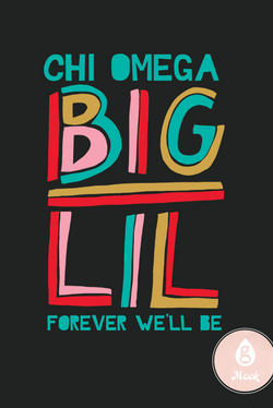 Chi Omega Colorblock Big Lil