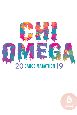 Chi Omega Watercolor Drip