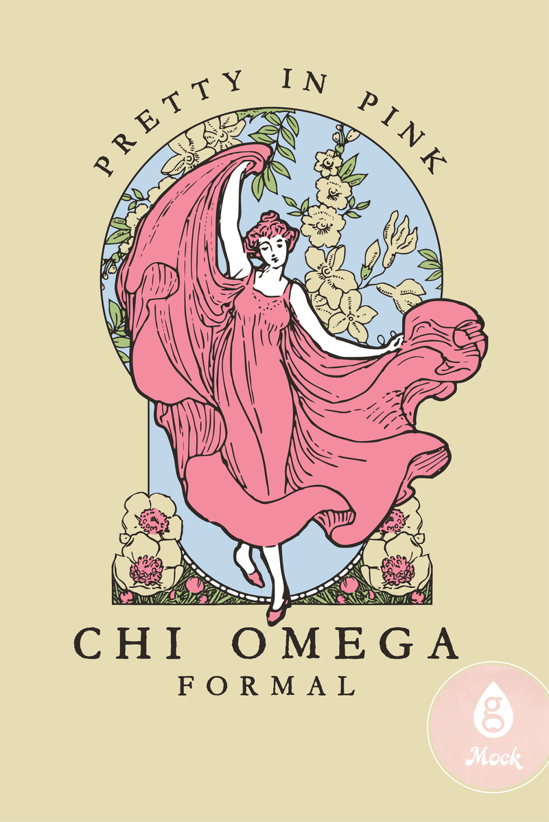 Chi Omega Pretty in Pink