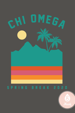 Chi Omega Spring Break Retro Sunset